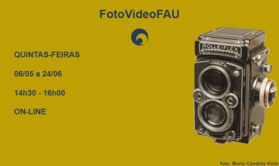 Cartaz da oficina de fotografia de foto 2021 FAUUSP